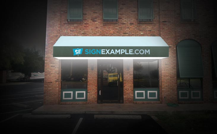 Backlit Vinyl Awnings Signexample