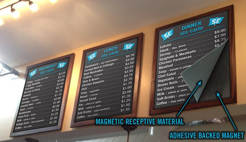 Magnetic Menu Boards Signexample Com
