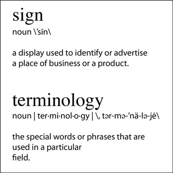 Sign Terminology