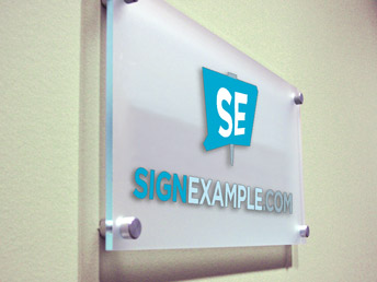 Sign Panel installed with Standoffs
