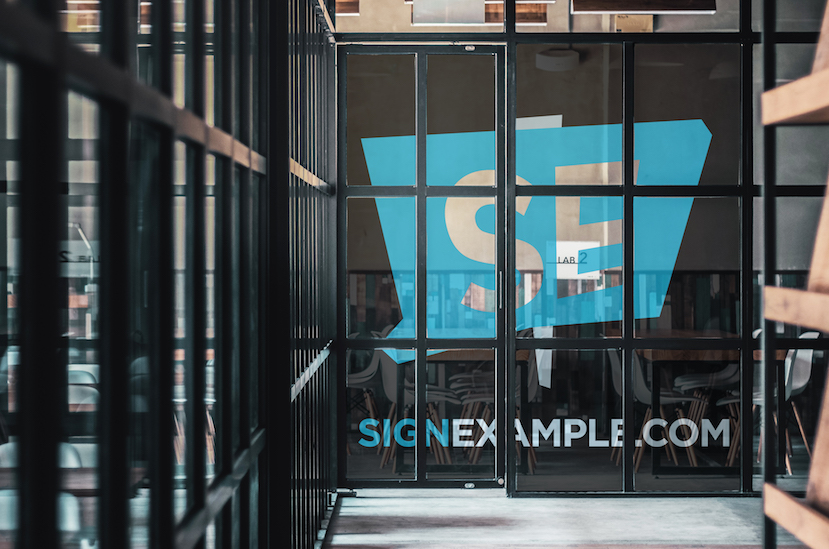 Optically Clear Window Decals Signexamplecom - Window decals for office doors