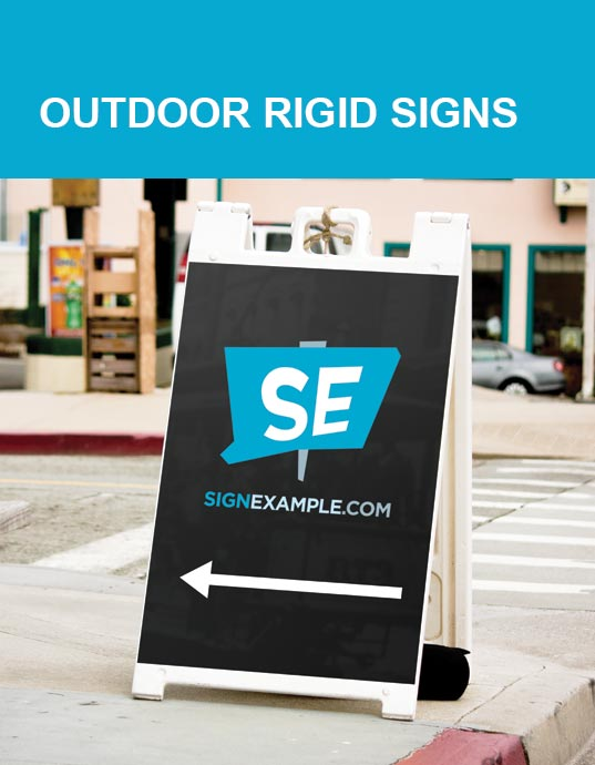 Outdoor Rigid Sign Products