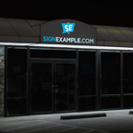 Backlit Vinyl Awnings
