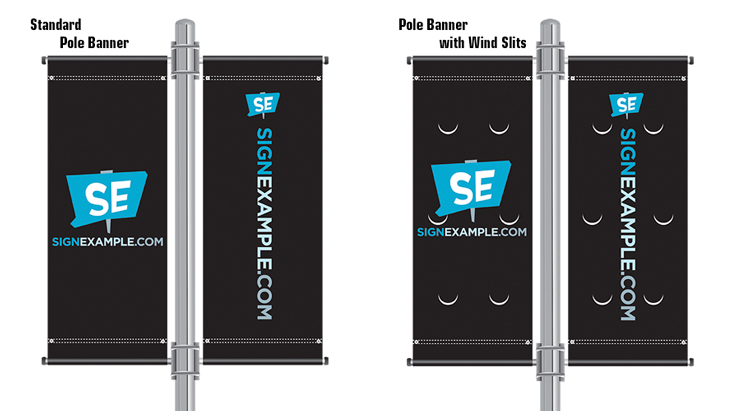 Outdoor Pole Banners – signexample com