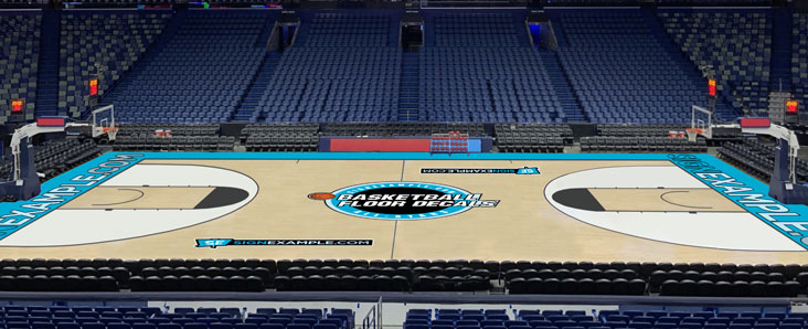 Basketball Floor Decals