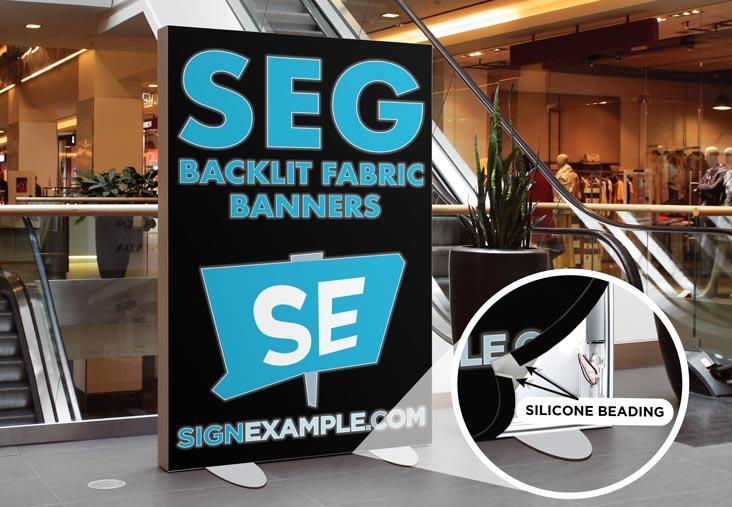 SEG Backlit Fabric Banners