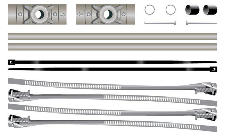 Pole Banner Bracket Hardware Kit