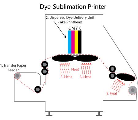 Dye Sublimation Printer Diagram