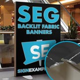 SEG Backlit Fabric Banners