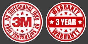 3M Inks & Warranty Badges