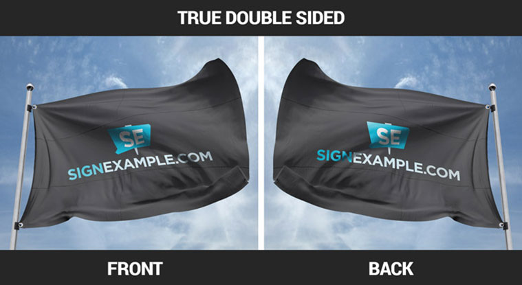 Custom Flags True Double Sided