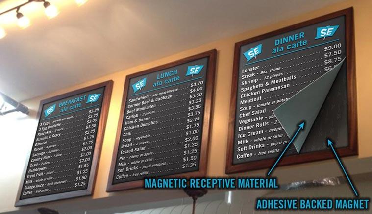Magnetic Menu Boards