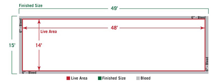 Standard Billboard Size Diagram